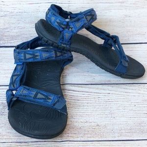 Teva Kids Boys Size US 1 Blue/Black Sandals